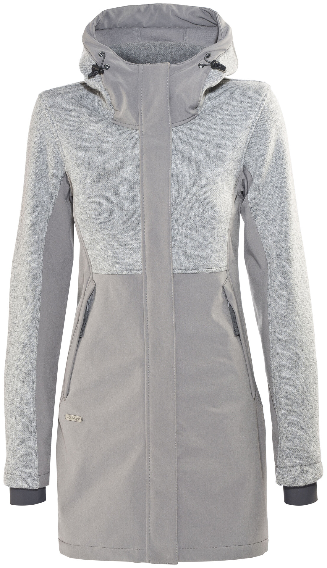 Bergans Flora Hybrid Coat Women solid grey